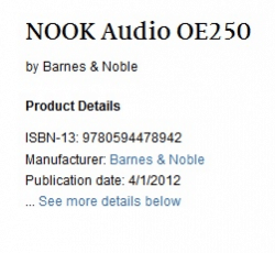 """B&N to Launch """"Nook Audio"""" - MP3 Player, Dock, ? Barnes & Noble e-Reading Hardware"""