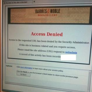 Why is Barnes & Noble So Afraid Of My Blog? Editorials