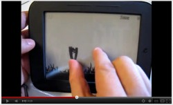 Multi-Touch on a Hacked Nook Touch e-Reading Hardware