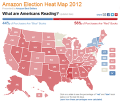 Amazon Political Book Sales Heat Map Means Absolutely Nothing Amazon statistics Stupid Nonsense
