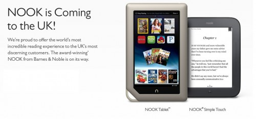 B&N to Launch the Nook in the UK This Fall e-Reading Hardware eBookstore