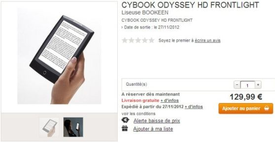 Bookeen's new Odyssey eReader with Frontlight and HD E-ink Screen Leaked by Retailer! e-Reading Hardware