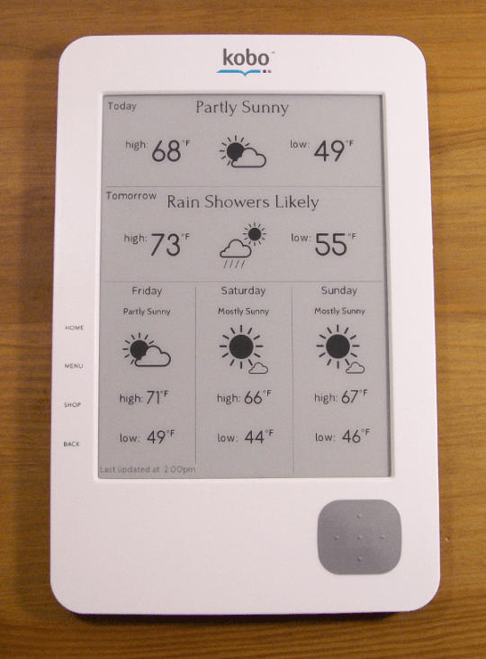 Kobo Wifi - Paperweight, Flyswatter, Weather Station e-Reading Hardware Tips and Tricks