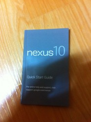 User Manual for the Nexus 10 Shows Up Online Rumors