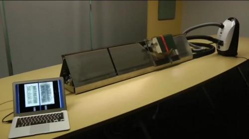 Google Engineer Releases Design For an Automated Vacuum Powered Book Scanner Digitization
