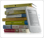kindle book stack white