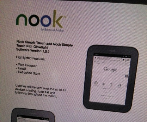 Nook Touch to Get New Update With Web Browser, Email Client ? I Doubt it e-Reading Hardware