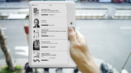 Yanko Design Rediscovers a Classic eReader Design e-Reading Hardware