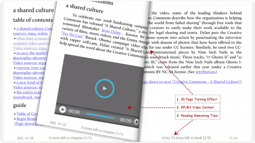 Moon+ Reader Updated With Support for Epub3 Video e-Reading Software Epub3