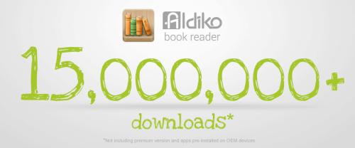 aldiko 15 million downloads banner