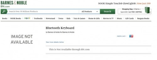 """Barnes & Noble's New Tablet Will Have a BT Keyboard and a """"For Dummies"""" Book Barnes & Noble e-Reading Hardware"""
