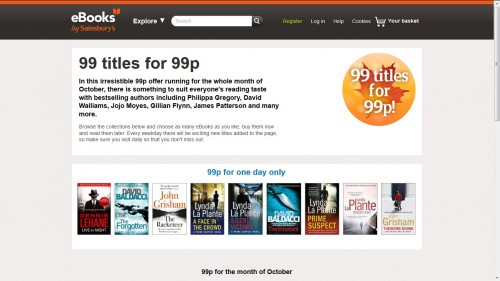 sainsbury 99 pence ebook sale
