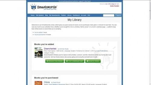 smashwords my library dropbox