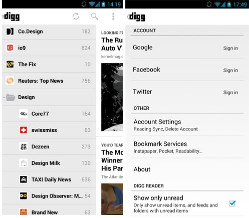Digg Launches New Reader Extension for Chrome, Releases Update for their Android App News Reader