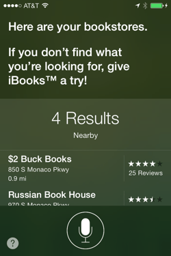 Siri is Now Pitching iBooks Apple humor