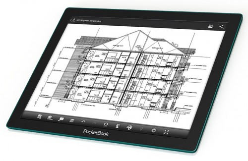 "Pocketbook CAD Reader Launches in Russia with a 13.3"" E-ink Fina Screen e-Reading Hardware Screen Tech"