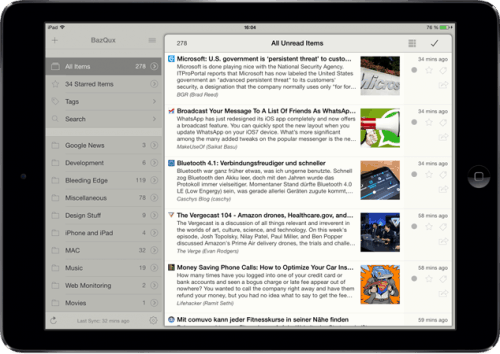 Mr Reader Updated With New Fonts, iOS 7 Background Updating News Reader