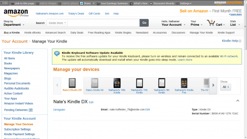 manage your Kindle redesign 2