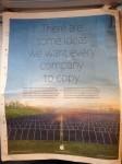 apple newspaper ad eco-friendly