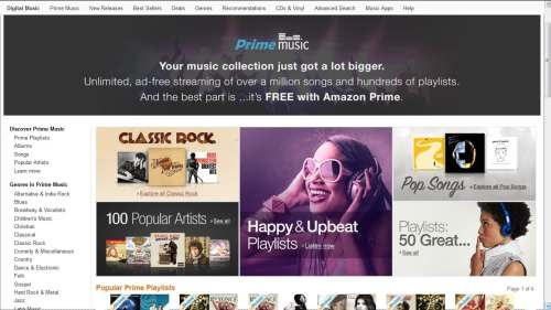 Amazon Launches Prime Music Amazon