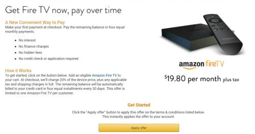 fire tv installment plan 2