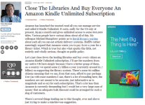 'Close The Libraries And Buy Everyone An Amazon Kindle Unlimited Subscription' - Forbes Kindle (platform) Library eBooks