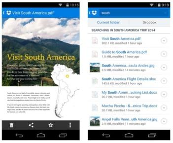 Dropbox for Android Updated With Better Search, Document Previews Cloud Storage