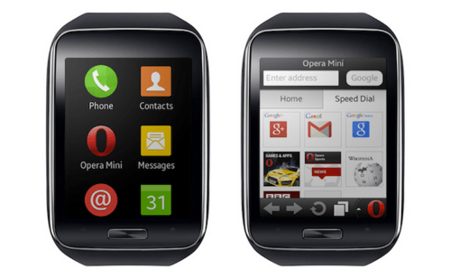 Opera Mini is Coming to the Samsung Gear S Smartwatch e-Reading Hardware Web Browser