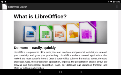 Libre Office Viewer Hits Google Play Office