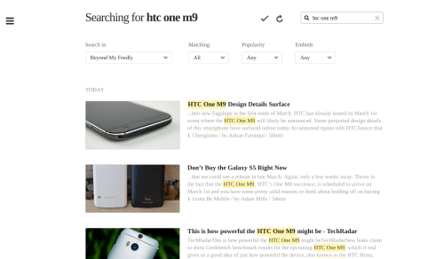 Feedly Debuts Power Search To Help Users Find Stories On The Web Aggregators News Reader