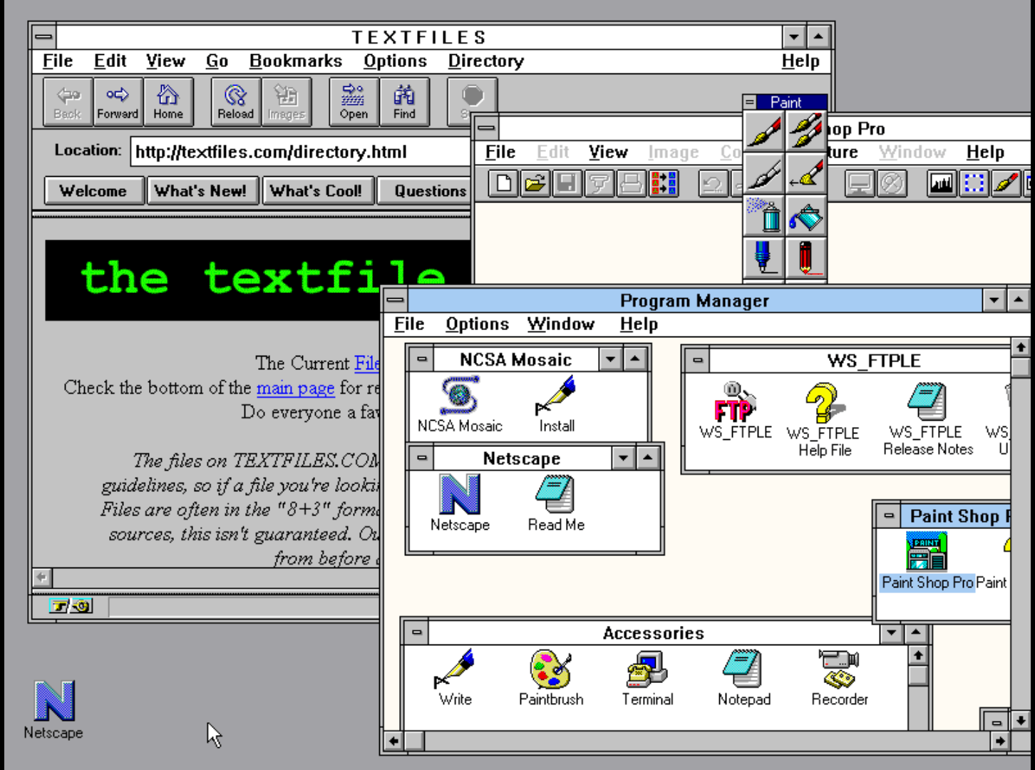 How to Run a Web Browser - In a Windows 3 11 - In a DosBox - Inside