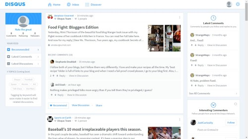 Disqus Relaunches Website With a Social Focus Web Publishing