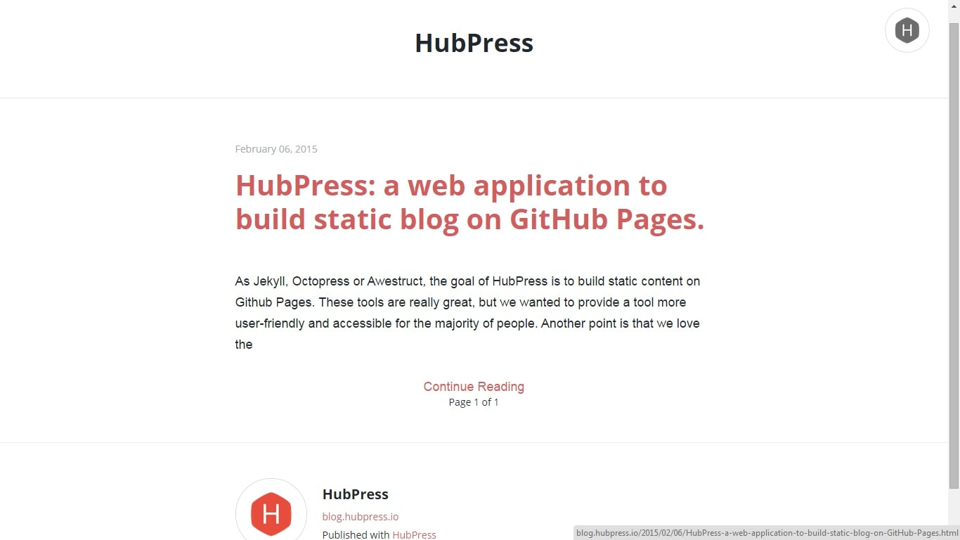 HubPress Makes it Easier to Host Your Blog at GitHub | The