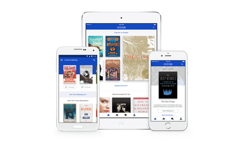 Oyster Apps Updated With New Layout, Recommendations e-Reading Software eBookstore