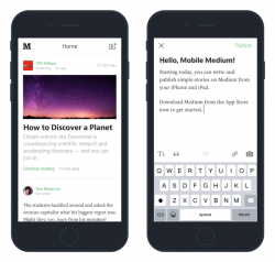 Medium Adds Mobile Blogging to Its iOS App Web Publishing