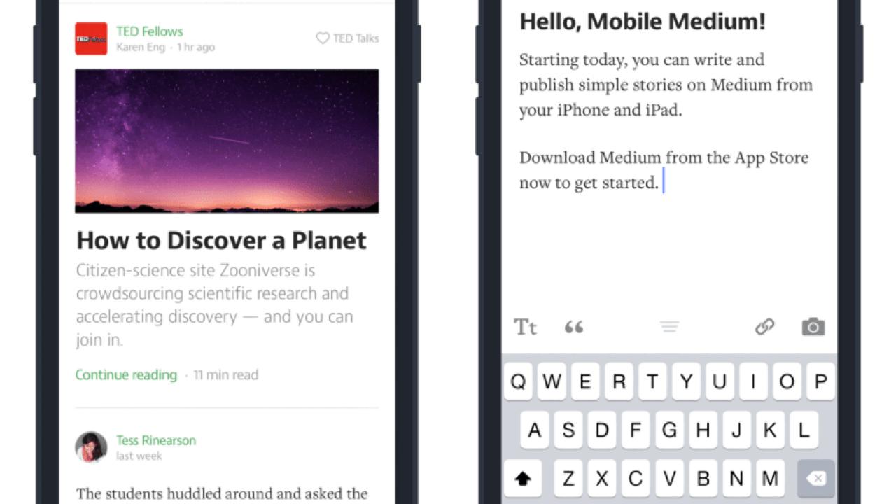 Medium Adds Mobile Blogging to Its iOS App | The Digital Reader