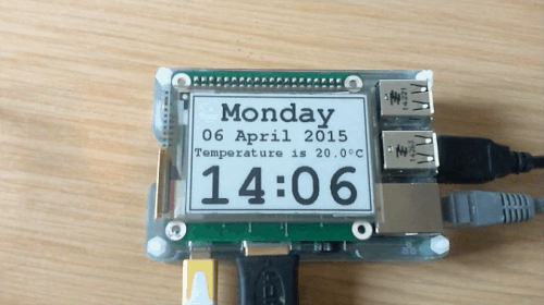 e-Paper Hat Adds an E-ink Screen to a Raspberry Pi E-ink e-Reading Hardware