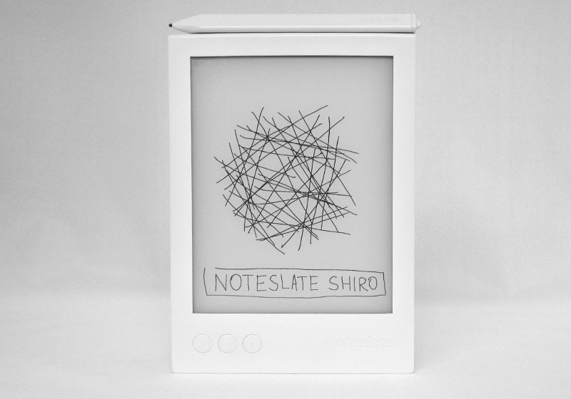 "Noteslate Shiro 6.8"" Writing Slate Due Out This Fall, Will Cost $199 E-ink e-Reading Hardware"