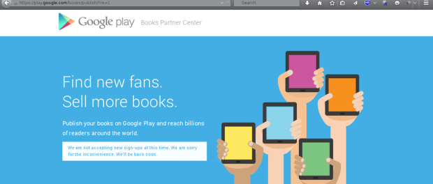 Google Is Now Accepting Indie Authors into Play Books (Sometimes, And Only If You Ask Nice) Google Books Google Play Piracy Self-Pub