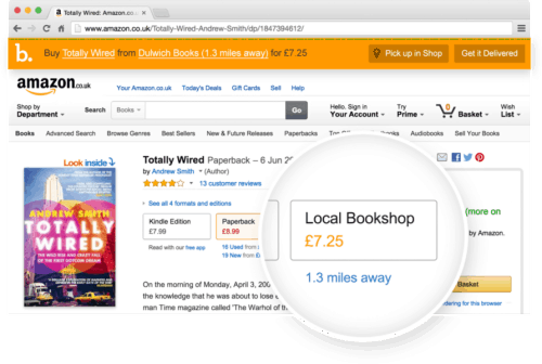 BookIndy Chrome Extension Lets You Shop Amazon (in the UK) for Books and Buy Local Amazon Web Browser