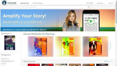 Booktrack Launches eBookstore for Audio-Enhanced eBooks, Adds Web Embedding Option Audiobook eBookstore