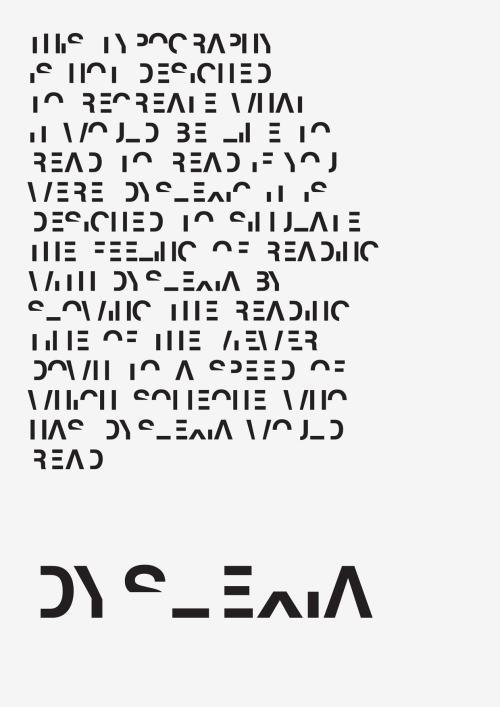 dyslexic font