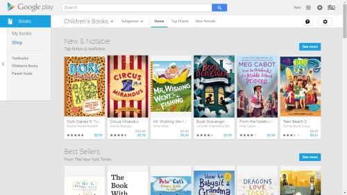 google play books childrens books