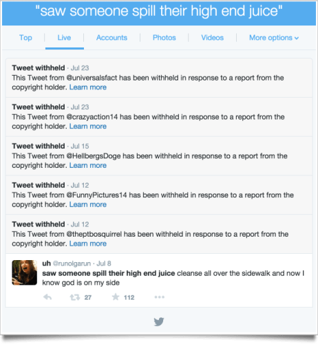 Today in Non-News: Twitter is Deleting Stolen Jokes on Copyright Grounds Piracy Web Publishing