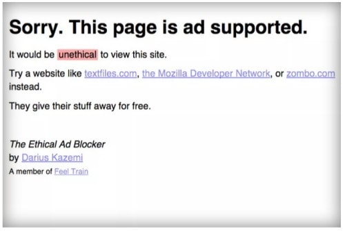 """Ethical"" Ad Blocker Ensures You Never See an Advert - Or An Ad-Supported Website Advertising"