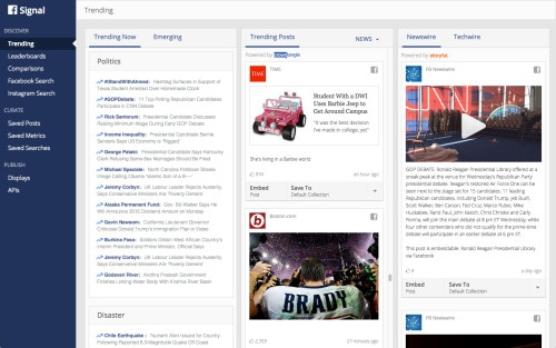 Facebook Signal Helps Journalists Sift Through Trending News on Facebook Journalism Web Publishing
