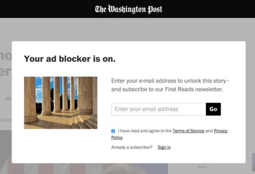 the washington post ad blocker