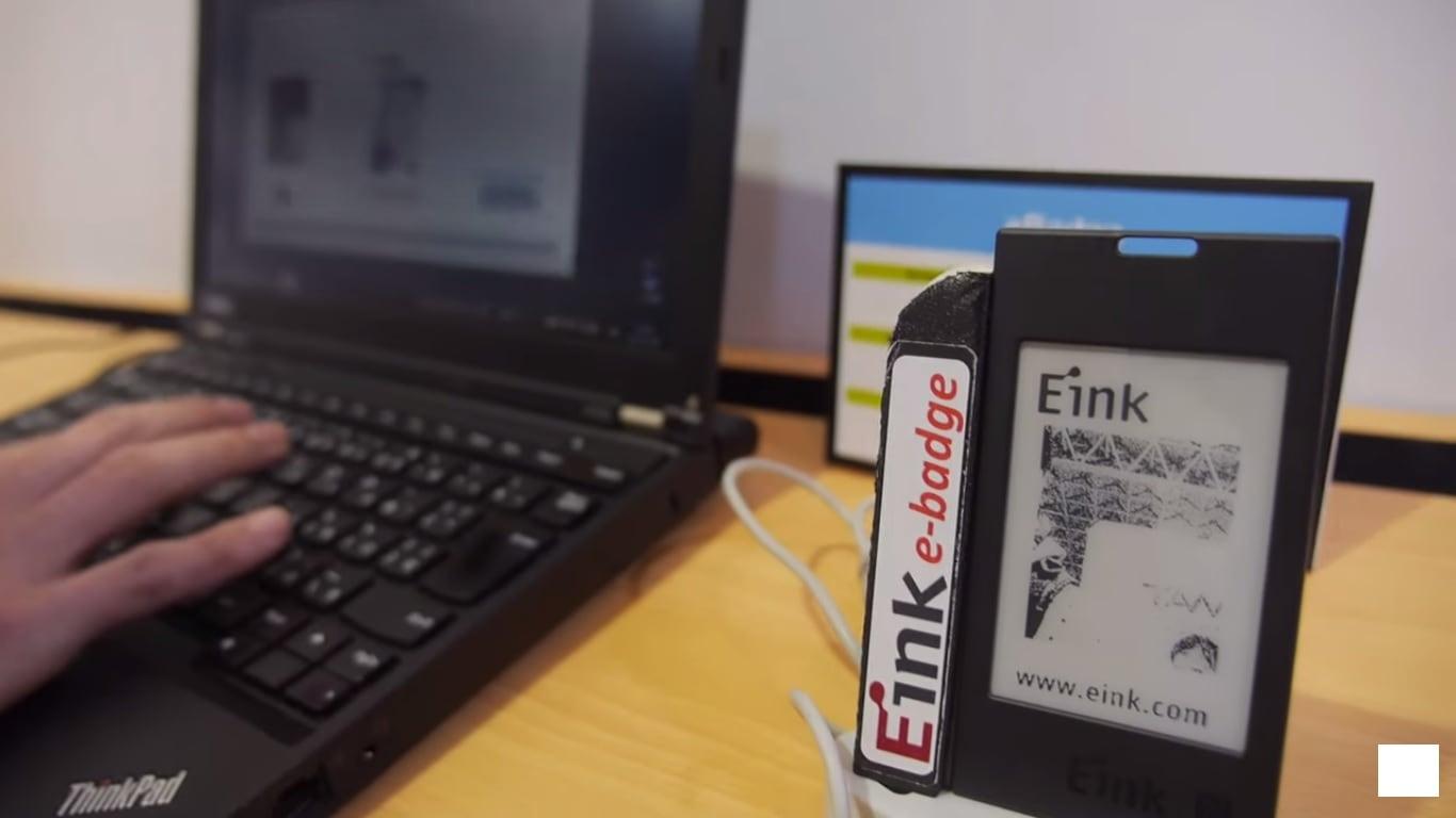 E-ink Shows Off Smart Badges, 13 3
