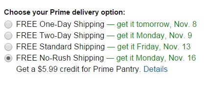 Amazon Bumps No-Rush Shipping Credit to $5.99 Amazon