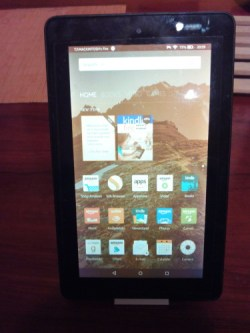 amazon fire tablet blue shade demo
